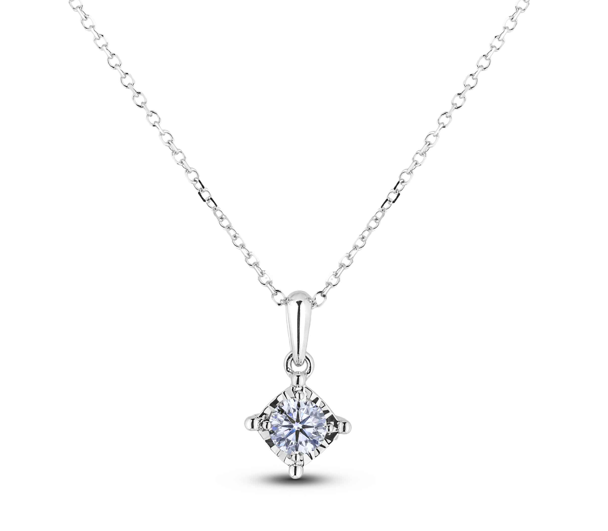Diamond Solitaire Pendants AFCP1630020 (Pendants)