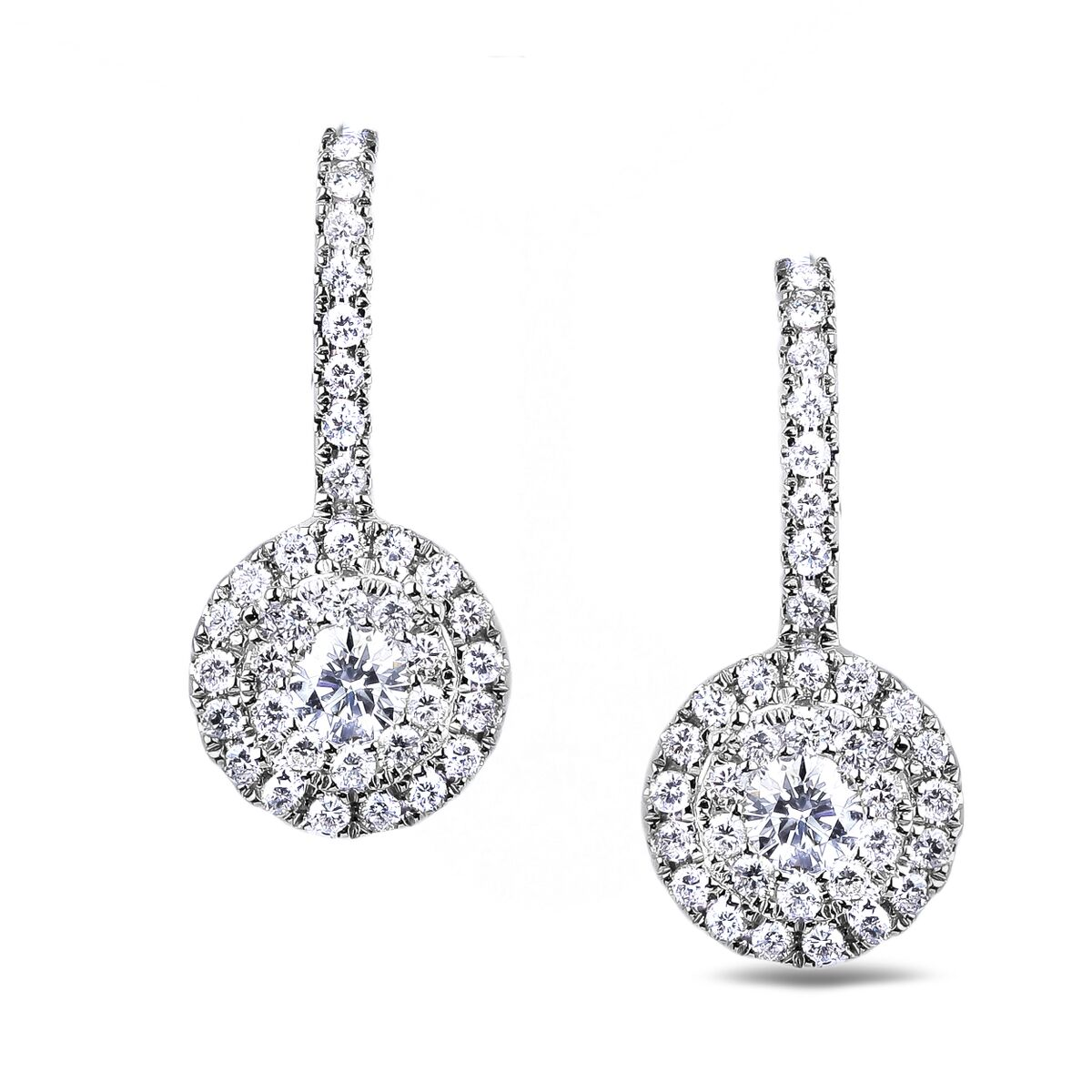 Diamond Dangle Earrings SGE299-2.5 (Earrings)