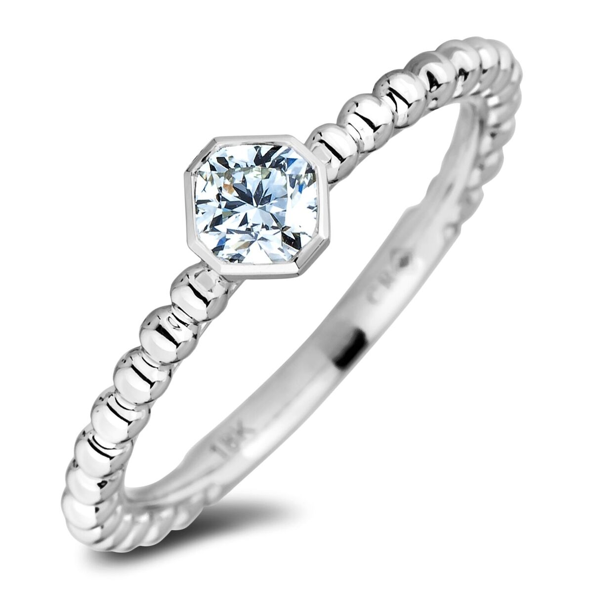 Diamond Solitaire Rings SGR1259 (Rings)
