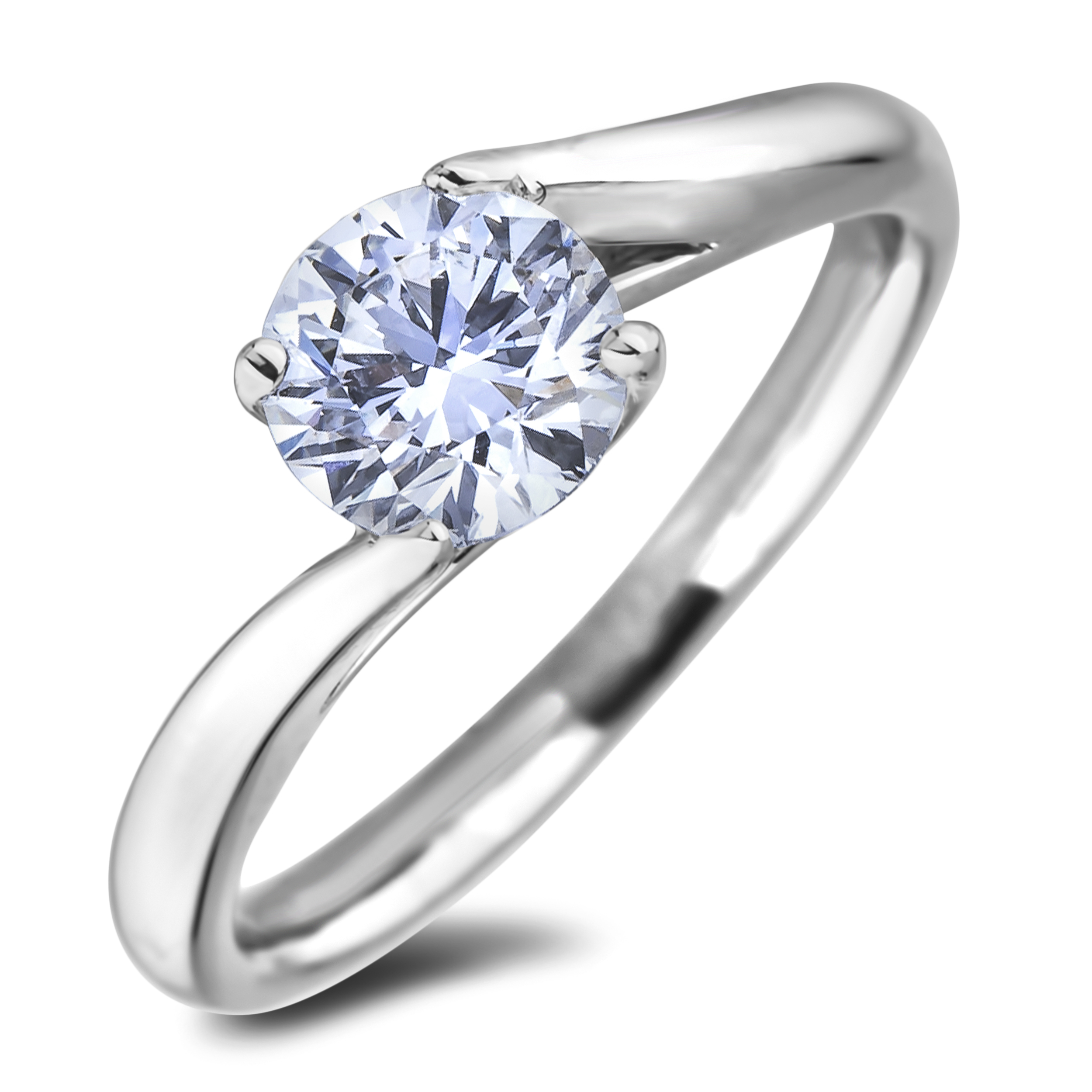 Diamond Solitaire Rings SGR1246 (Rings)