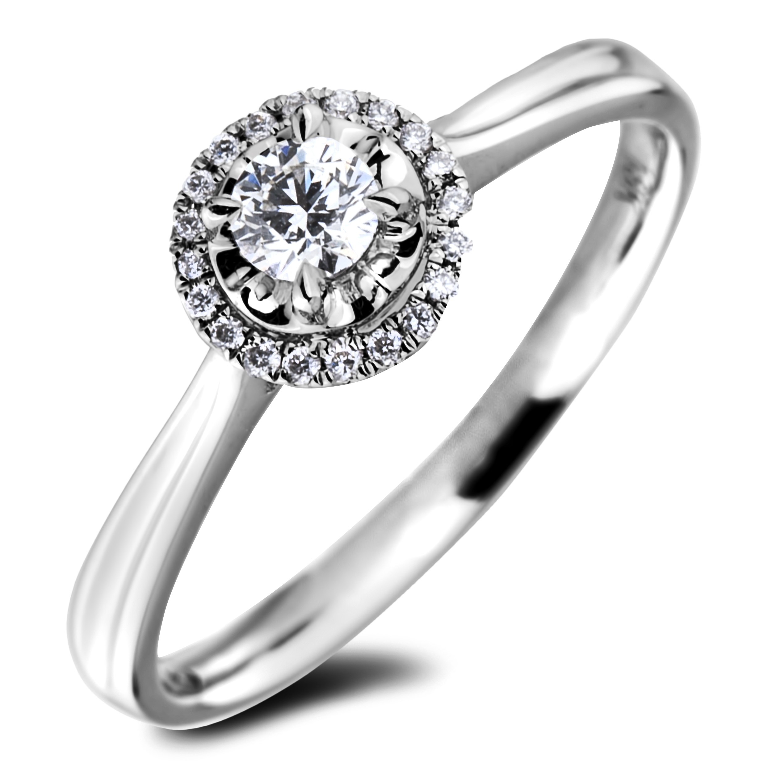 Diamond Engagement Halo Rings AFR2661015 (Rings)