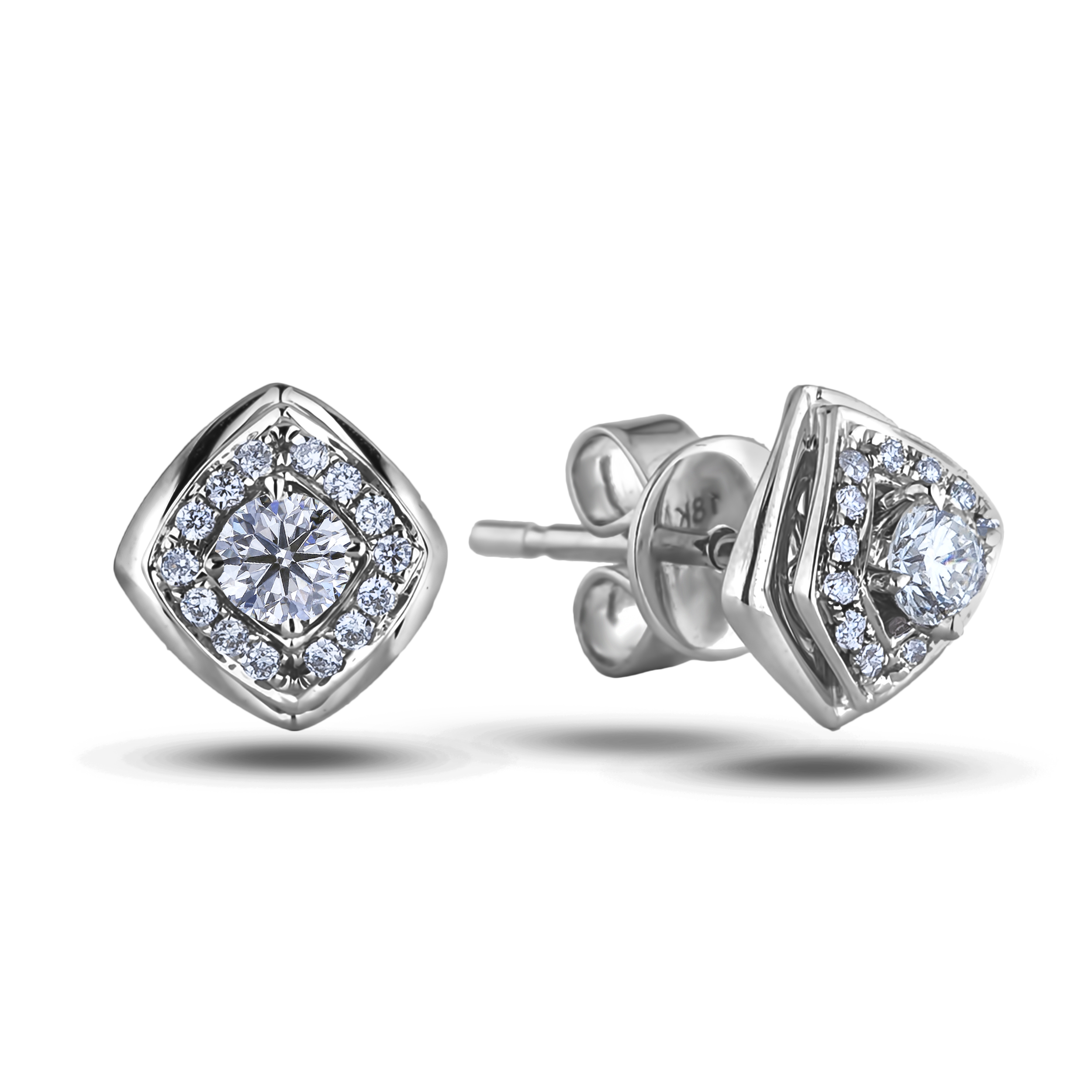 Diamond Stud Earrings AFE2477010 (Earrings)