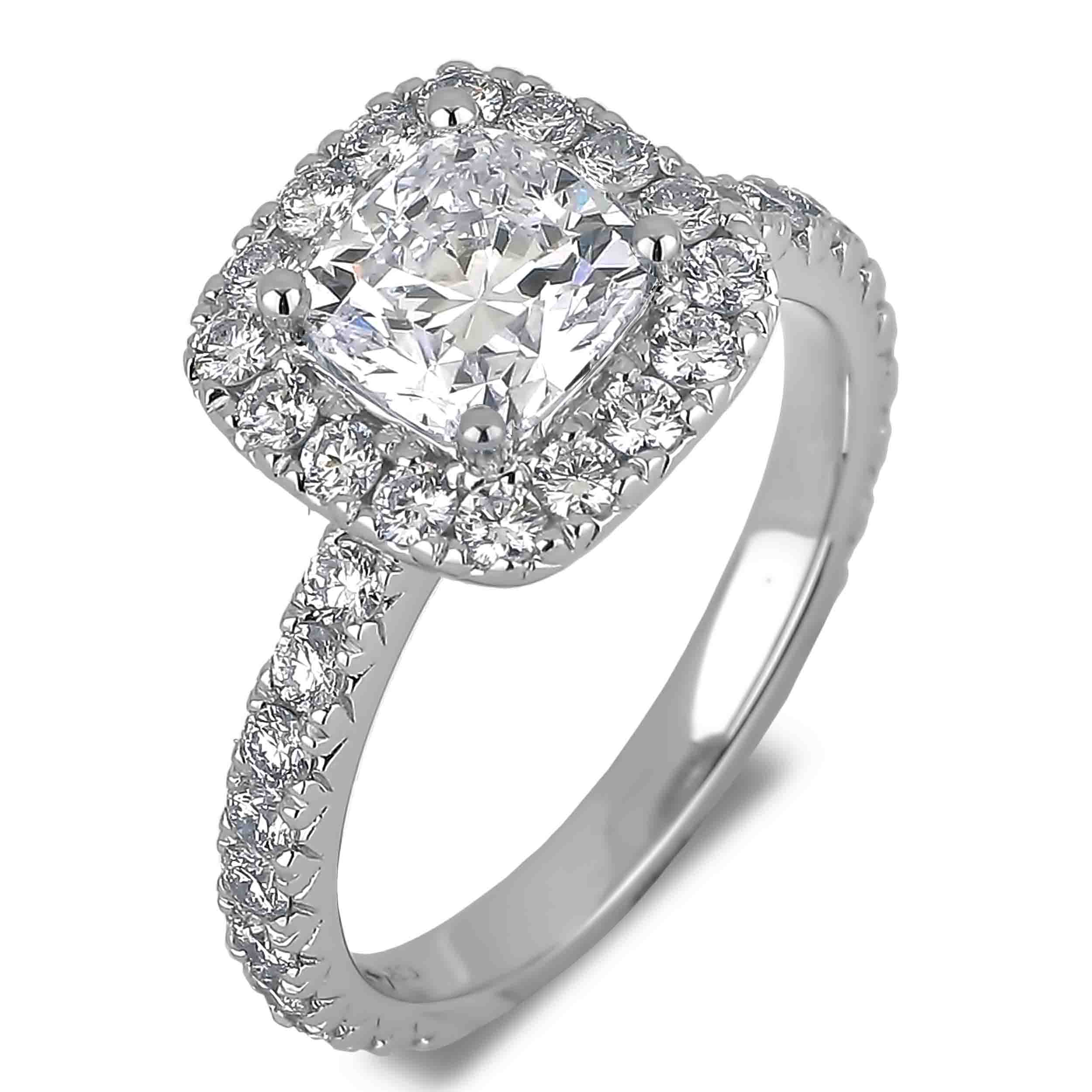 Diamond Engagement Halo Rings SGR1023 (Rings)