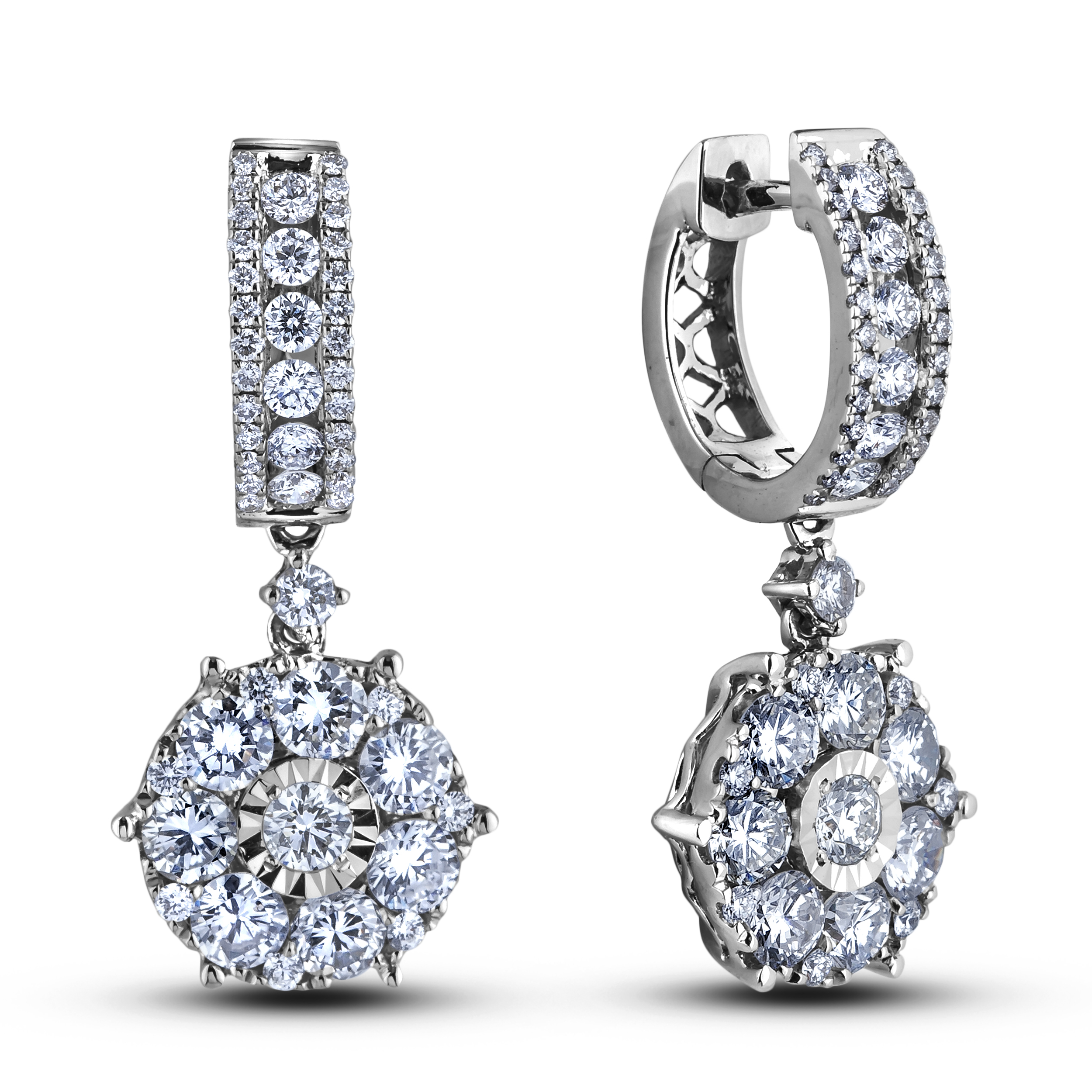 Diamond Dangle Earrings CRL-E10076A (Earrings)