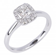 Diamond Engagement Halo Rings SGR709 (Rings)