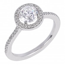 Diamond Engagement Halo Rings SGR723 (Rings)