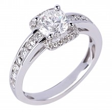 Diamond Engagement Halo Rings SGR731 (Rings)