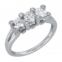 Diamond Three Stone Rings SGR307 (Rings)