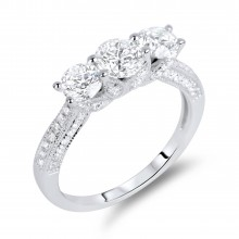 Diamond Three Stone Rings SGR313 (Rings)