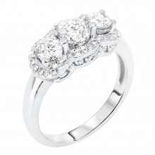 Diamond Three Stone Rings SGR316 (Rings)