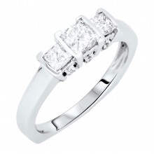 Diamond Three Stone Rings SGR329 (Rings)