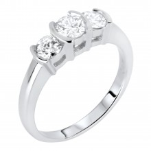 Diamond Three Stone Rings SGR593 (Rings)