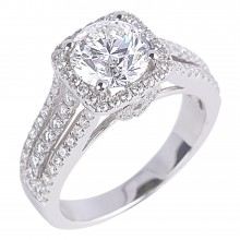 Diamond Engagement Halo Rings SGR811 (Rings)