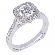 Diamond Engagement Halo Rings SGR829 (Rings)
