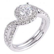 Diamond Engagement Halo Rings SGR839 (Rings)