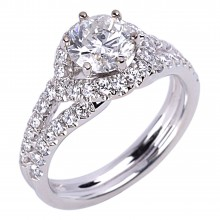 Diamond Engagement Halo Rings SGR844 (Rings)