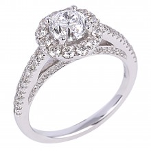 Diamond Engagement Halo Rings SGR854 (Rings)