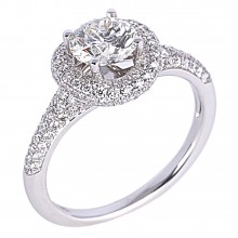 Diamond Engagement Halo Rings SGR856 (Rings)