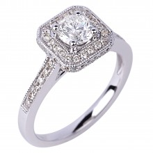 Diamond Engagement Halo Rings SGR907R (Rings)
