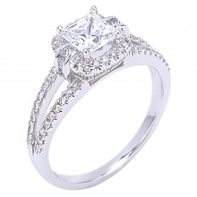 Diamond Engagement Halo Rings SGR922 (Rings)