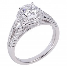 Diamond Engagement Halo Rings SGR930 (Rings)