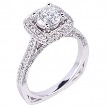 Diamond Engagement Halo Rings SGR934-1 (Rings)