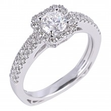 Diamond Engagement Halo Rings SGR939 (Rings)