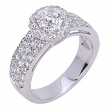 Diamond Engagement Halo Rings SGR954 (Rings)
