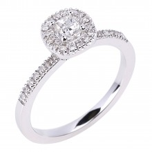 Diamond Engagement Halo Rings SGR956 (Rings)