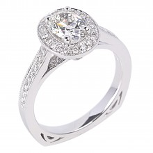 Diamond Engagement Halo Rings SGR958 (Rings)