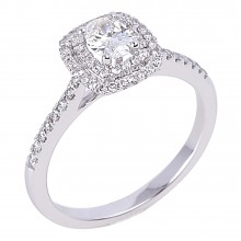 Diamond Engagement Halo Rings SGR959 (Rings)