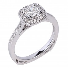 Diamond Engagement Halo Rings SGR960 (Rings)