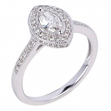 Diamond Engagement Halo Rings SGR961 (Rings)