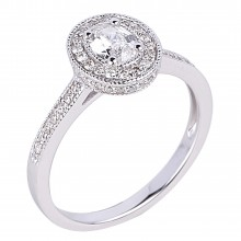 Diamond Engagement Halo Rings SGR962 (Rings)