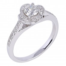 Diamond Engagement Halo Rings SGR965 (Rings)