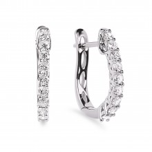 Diamond Hoop Earrings SGE246 (Earrings)
