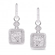 Diamond Dangle Earrings SGE224 (Earrings)