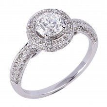 Diamond Engagement Halo Rings SGR422 (Rings)