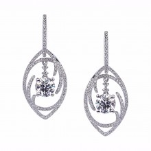Diamond Dangle Earrings SGE235 (Earrings)