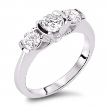 Diamond Three Stone Rings SGR873 (Rings)