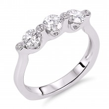 Diamond Three Stone Rings SGR308 (Rings)
