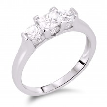Diamond Three Stone Rings SGR328 (Rings)