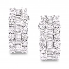 Diamond Hoop Earrings SGE187 (Earrings)