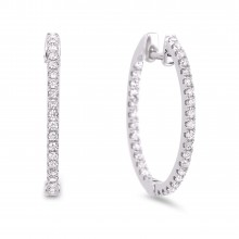 Diamond Hoop Earrings SGE192 (Earrings)