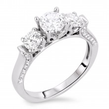 Diamond Three Stone Rings SGR299 (Rings)