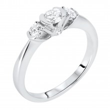 Diamond Three Stone Rings SGR781 (Rings)