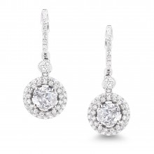 Diamond Dangle Earrings SGE219 (Earrings)