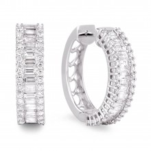 Diamond Hoop Earrings SGE194 (Earrings)