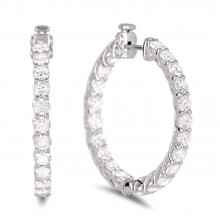 Diamond Hoop Earrings SGE206 (Earrings)