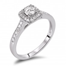 Diamond Engagement Halo Rings SGR908R (Rings)